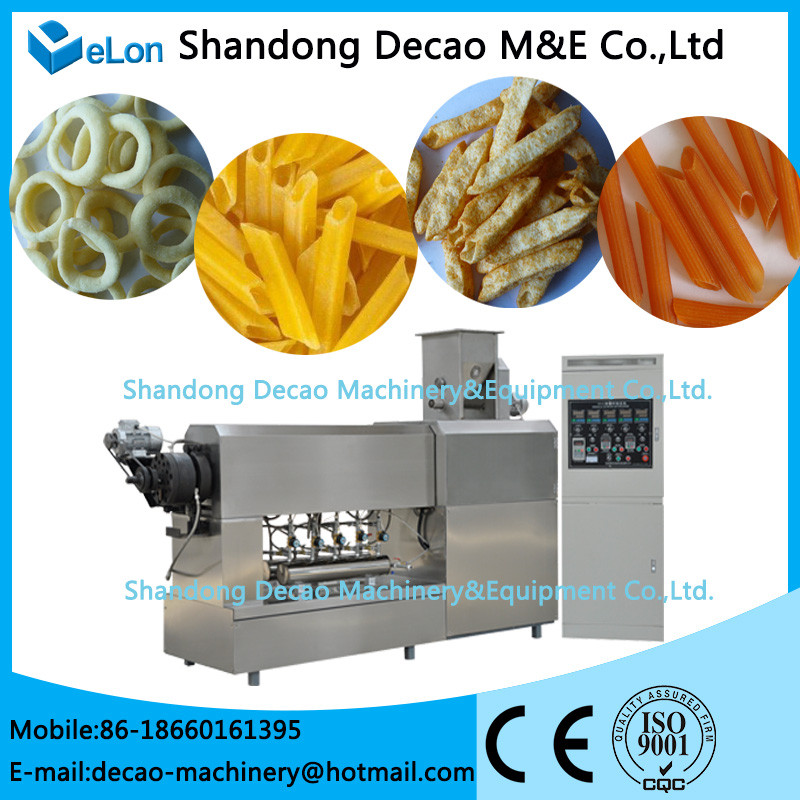 automatic stainless steel extruded frying 3d pellet food machine plant