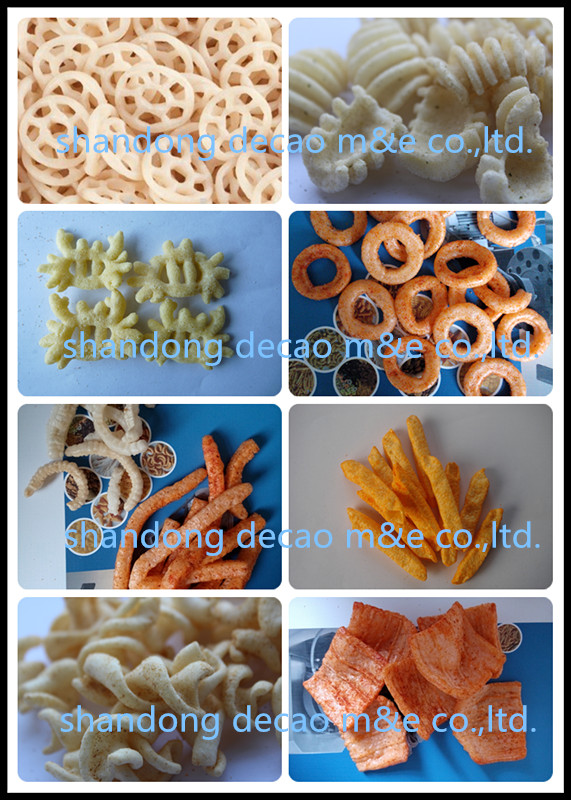 automatic stainless steel extruded fried crispy bugles 3d pellet snack machine manufacturer