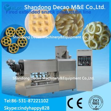 automatic stainless steel snack pellet frying snacks extruder factory
